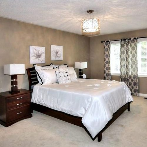 Staged bedroom Stouffville